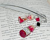 Gothic Bloody Hearts Bookmark