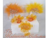 THE MIDSUMMER COLLECTION  - Mini Hats and Masquerade Masks in orange and yellow tones