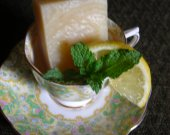 Citrus Mint High Tea ~ Kettle crafted Soap with UV Ray protecting Rice Bran Oil