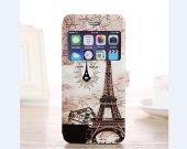Eiffel tower iPhone 6 folio case, romantic printed iPhone 6 eiffel case, iphone 6 mobile case, iphone 6 flip cover