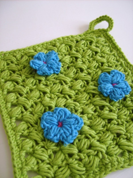 Simple Border Pot Holder and Dishcloth Crochet Pattern
