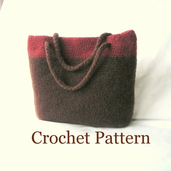 Crochet Felted Tote Bag Pattern : FREE FELTED CROCHET BAG PATTERN ? Easy Crochet Patterns