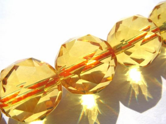 gemstone round ball handmade faceted briolette citrine quartz bead 12mm 16pcs