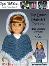 American Girl doll knitting patterns. Designer: Malfrid Gausel
