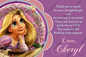 ... Disney Princess Birthday Party Thank You Card - DIG