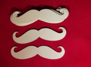 "Vinyl Tan 3"" Curly Mustaches Vinyl Stickers 12ct"